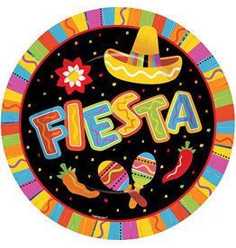 "Amscan Fiesta Fun 10"" Plates - 8ct."