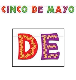 Beistle Cinco De Mayo Glitter Banner - 10ft.