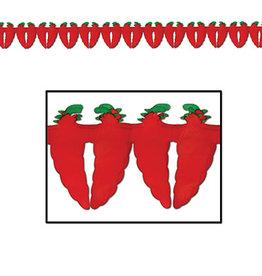 Beistle Chili Pepper Tissue Garland - 12ft.