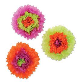 Beistle Tissue Flowers  - 3ct.