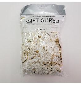 forum White/Gold Gift Shreds - 2oz