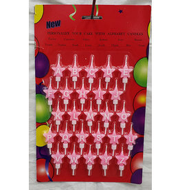 JBR Industries Pink Alphabet Candles - 26ct.