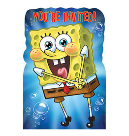 Amscan SpongeBob Invitations - 8ct.