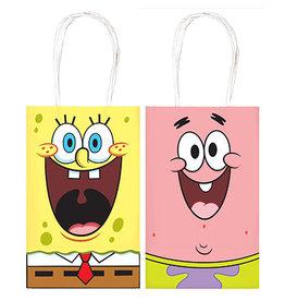 Amscan SpongeBob Kraft Handle Bags - 8ct.