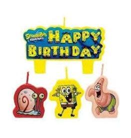 Amscan SpongeBob Candle Set - 4ct.