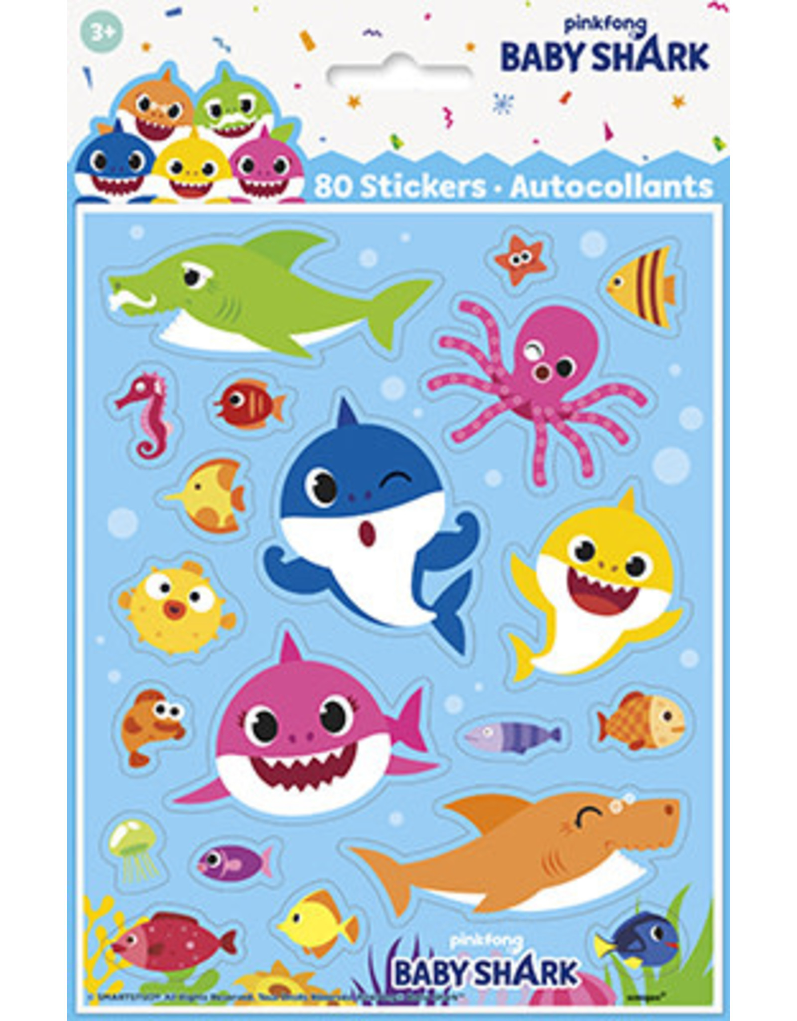 unique Baby Shark Stickers - 4 sheets