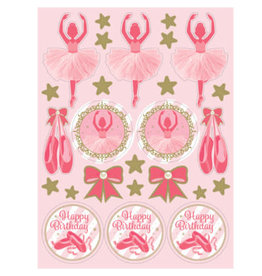 creative converting Twinkle Toes Stickers - 4ct