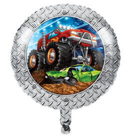 "creative converting 18"" Monster Truck Rally Mylar Balloon"