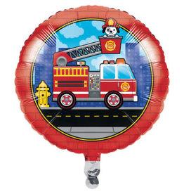 """creative converting 18"""" Fire Truck Mylar Balloon"""