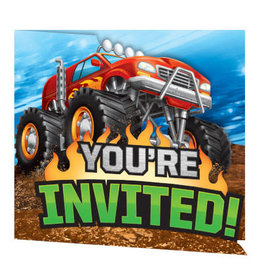 creative converting Monster Truck Rally Invites - 8ct.