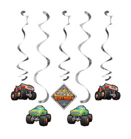 creative converting Monster Truck Rally Dizzy Danglers - 5ct.