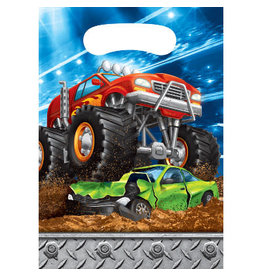 creative converting Monster Truck Rally Loot Bags - 8ct.