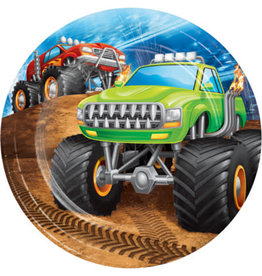 "creative converting Monster Truck Rally 7"" Plates - 8ct."