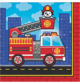 creative converting Flaming Fire Truck Lun. Napkins - 16ct.