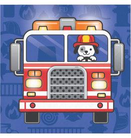 creative converting Flaming Fire Truck Bev. Napkins - 16ct.