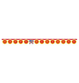 creative converting Flaming Fire Truck Birthday Banner - 7ft.