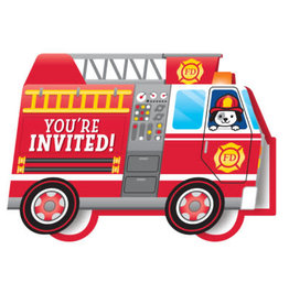 creative converting Flaming Fire Truck Invites - 8ct.