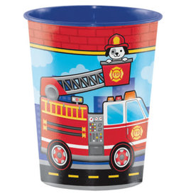 creative converting Flaming Fire Truck 16oz. Cup - 1ct.
