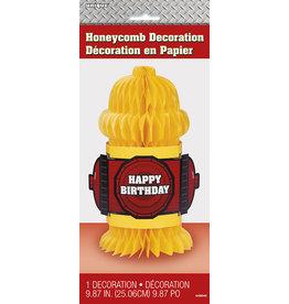unique Fire Hydrant Honeycomb Decor - 1ct.
