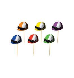 """Beistle 3.25"""" Jockey Helmet Picks - 50ct."""