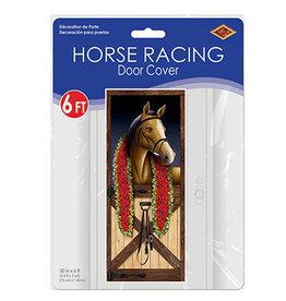 Beistle Horse Racing Door Cover - 6ft.