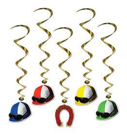 Beistle Jockey Helmet Whirls - 5ct