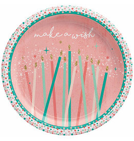 """Amscan Happy Cake Day 7"""" Plates - 8ct."""