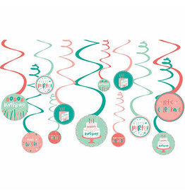Amscan Happy Cake Day Spiral Swirls - 12ct.