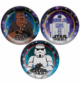 "Amscan Star Wars Galaxy 7"" Plates - 8ct."