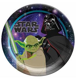 "Amscan Star Wars Galaxy 9"" Plates - 8ct."