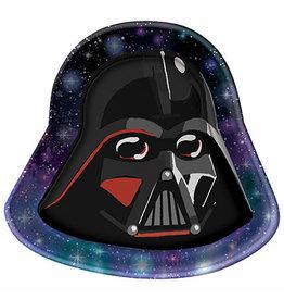 Amscan Star Wars Galaxy Darth Vader Shaped Plates - 8ct.