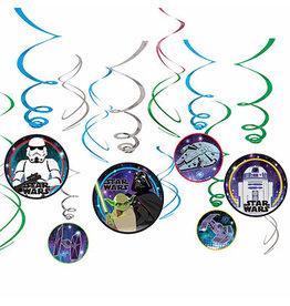 Amscan Star Wars Galaxy Swirl Decorations - 12ct.