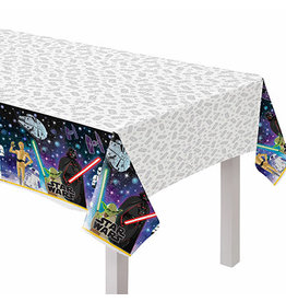 "Amscan Star Wars Galaxy Tablecover - 54"" x 102"""