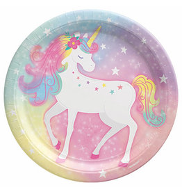 "Amscan Enchanted Unicorn 9"" Plates - 8ct."