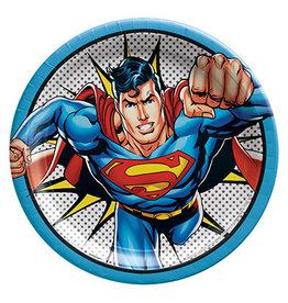 "Amscan Justice League 'Superman' 9"" Plates - 8ct."