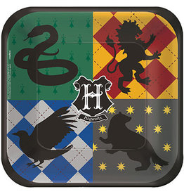 """Amscan Harry Potter 7"""" Sq. Plates - 8ct."""