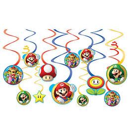Amscan Super Mario Swirls - 12ct.