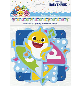 unique Baby Shark Birthday Banner - 6ft.