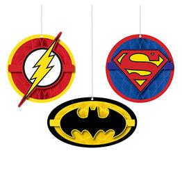 Amscan JL: Heros Unite Hanging Decor. - 3ct.