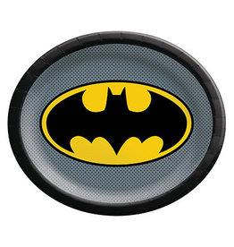 "Amscan JL: Batman 12"" Oval Plates - 8ct."