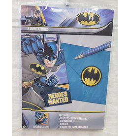Amscan JL: Batman Invites - 8ct.