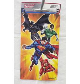 Amscan Justice League Jumbo Sticker - 1ct.