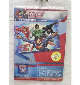 Amscan JL: Heros Unite Invites - 8ct.