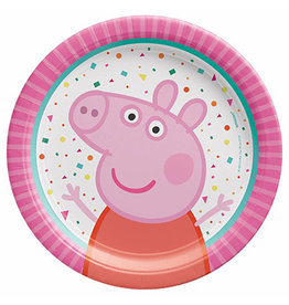 "Amscan Peppa Pig Confetti Party 7"" Plates - 8ct."
