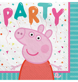 Amscan Peppa Pig Confetti Party Bev. Napkins - 16ct.