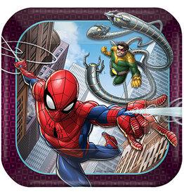 "Amscan Spiderman Webbed Wonder 7"" Plates - 8ct."