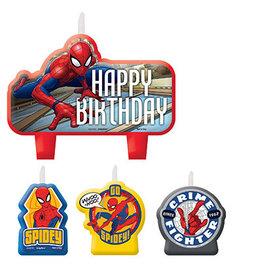 Amscan Spiderman Birthday Candle Set - 4ct.