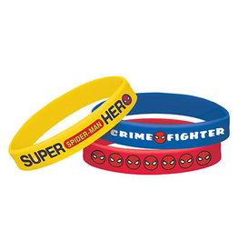 Amscan Spiderman Webbed Wonder Bracelets - 6ct.