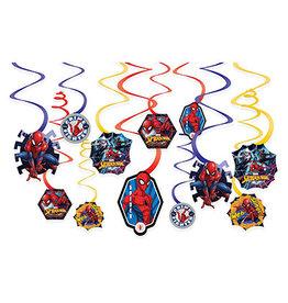 Amscan Spiderman Webbed Wonder Swirls - 12ct.