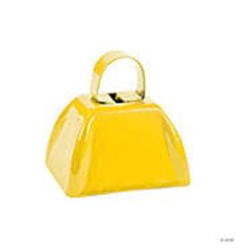 fun express Yellow Cowbell - 1ct.